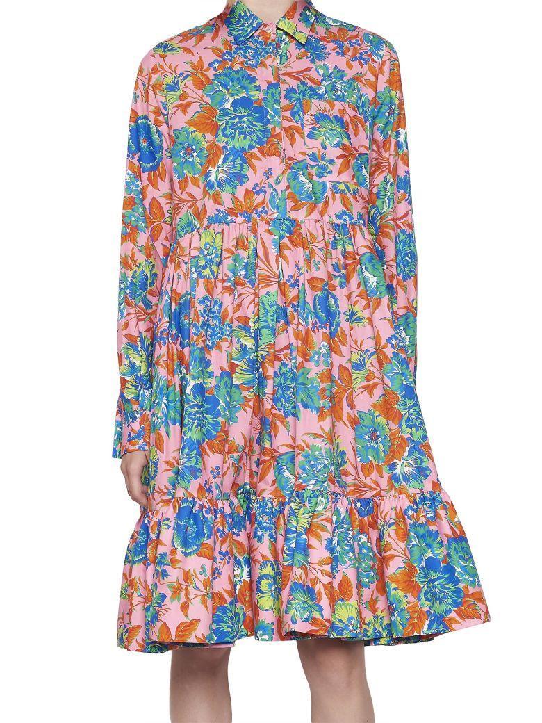 Msgm Dress In Multicolor