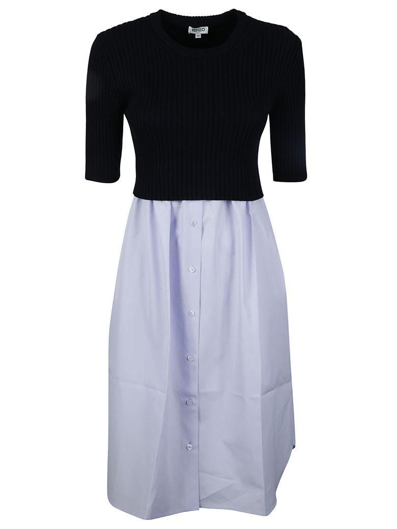 Kenzo Layered Dress In Blue