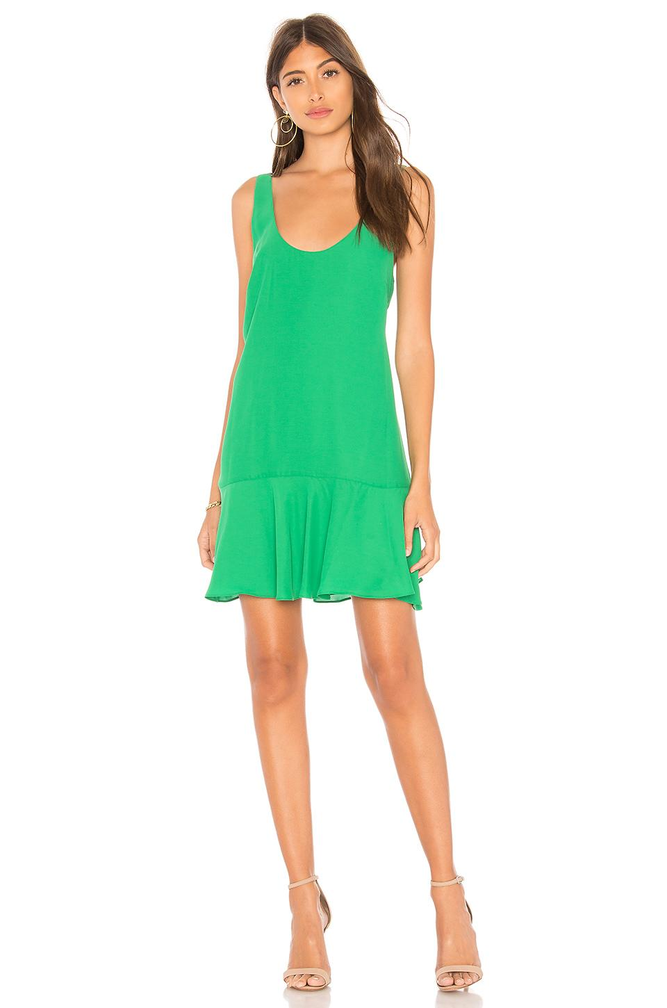 Amanda Uprichard Soren Dress In Green. In Jungle