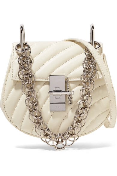 a536a9b875 ChloÉ Chloe Mini Drew Bijou Quilted Smooth Calfskin Shoulder Bag In ...