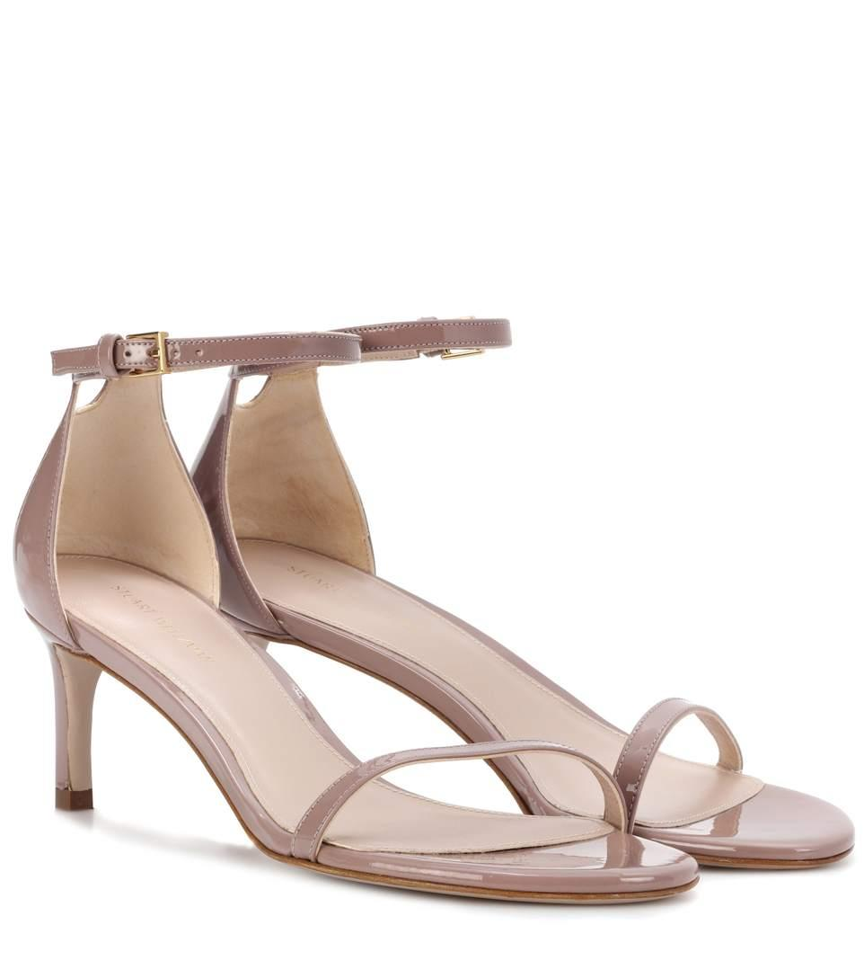 fd188989836 Stuart Weitzman Nudistsong 45 Patent Leather Sandals In Pink