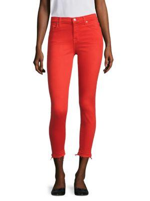 7 For All Mankind The Ankle Skinny Jeans In Poppy