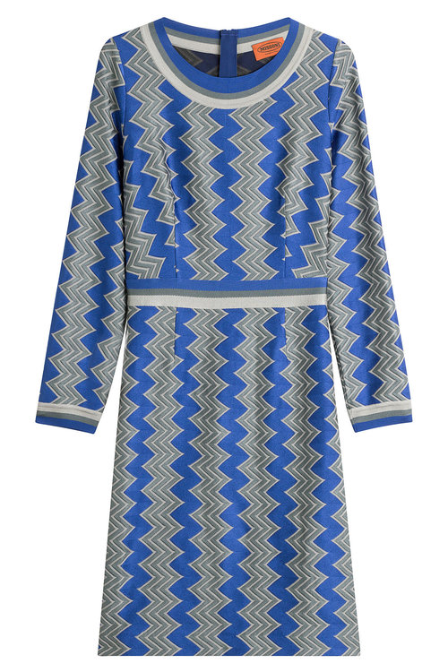 Missoni Knit Dress With Wool In Multicolored
