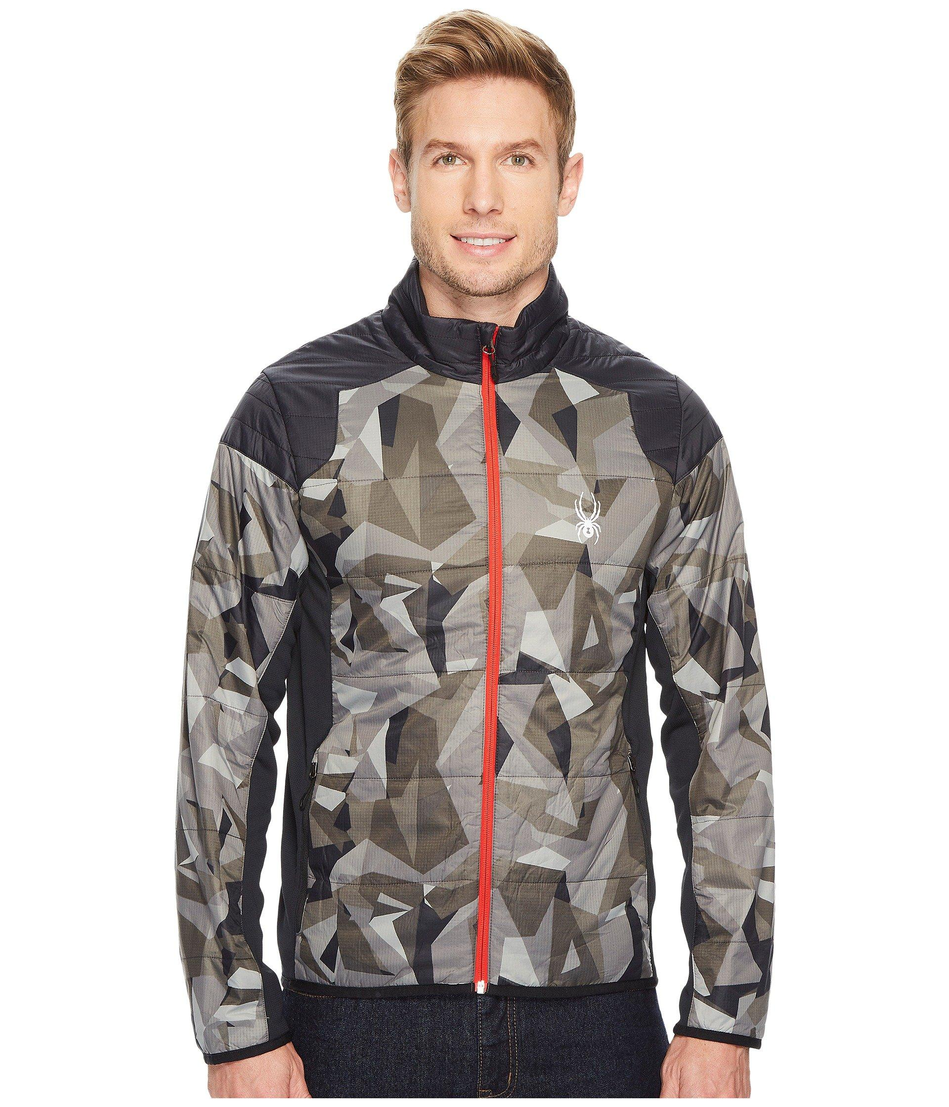 79560ad10dbf0 Spyder Glissade Full Zip Insulator Jacket, Black Camo Print/Black/Black