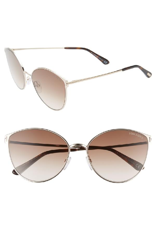 42c37fa3c488 Tom Ford Zeila 60Mm Mirrored Cat Eye Sunglasses - Rose Gold  Black ...