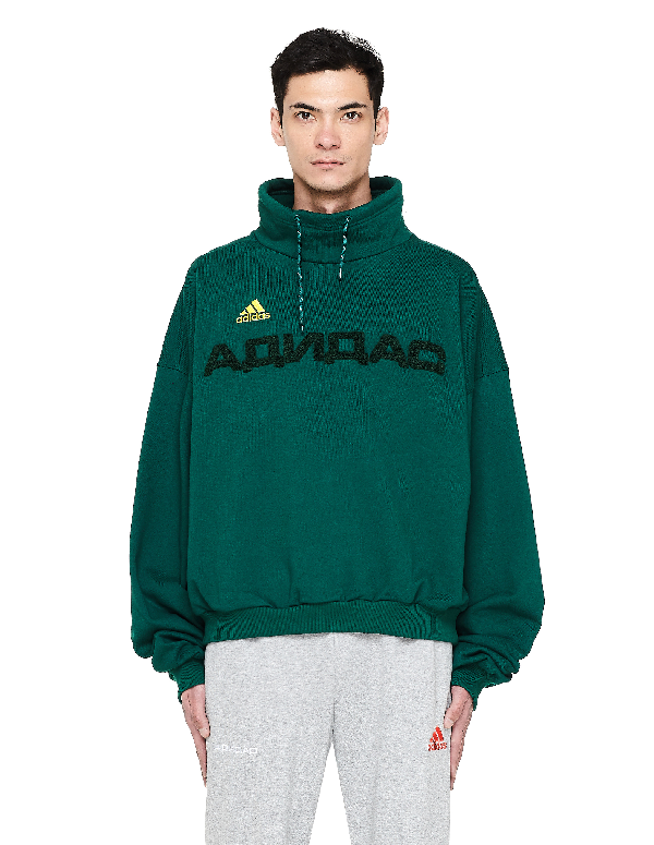 best loved d619a 907d5 Stand Collar Adidas Sweatshirt in Green
