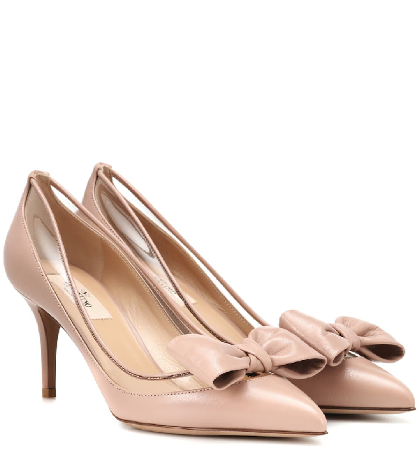 04950d81cc53 Valentino Dollybow Leather Pumps In Pink