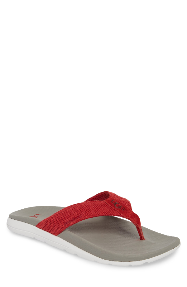 0701a091be8 Ugg Tenoch Hyperweave Flip Flop in Samba Red Leather
