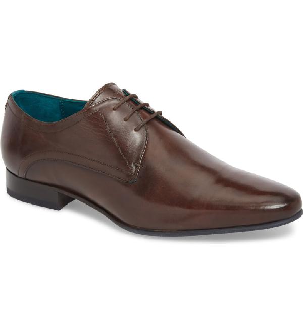 de711037c44e Ted Baker Men s Bhartli Leather Plain Toe Oxfords In Dark Brown ...