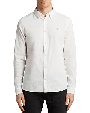 Allsaints Dulwich Regular Fit Button-Down Shirt In White