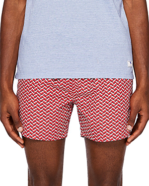 f788e18595 Ted Baker Caven Rectangle Geo Swim Shorts In Red | ModeSens