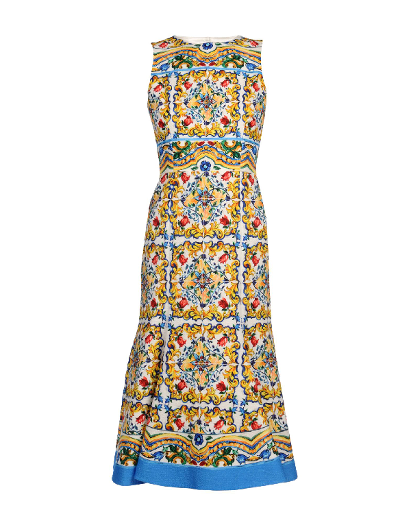 Dolce & Gabbana Knee-Length Dress In Yellow