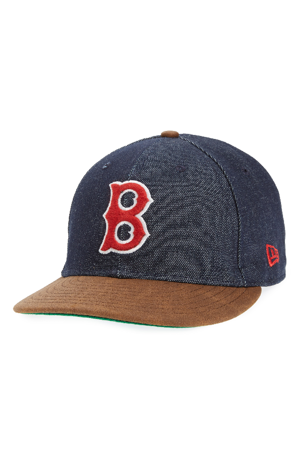 New Era X Levi's Mlb Logo Ball Cap - Black In Boston Red Sox