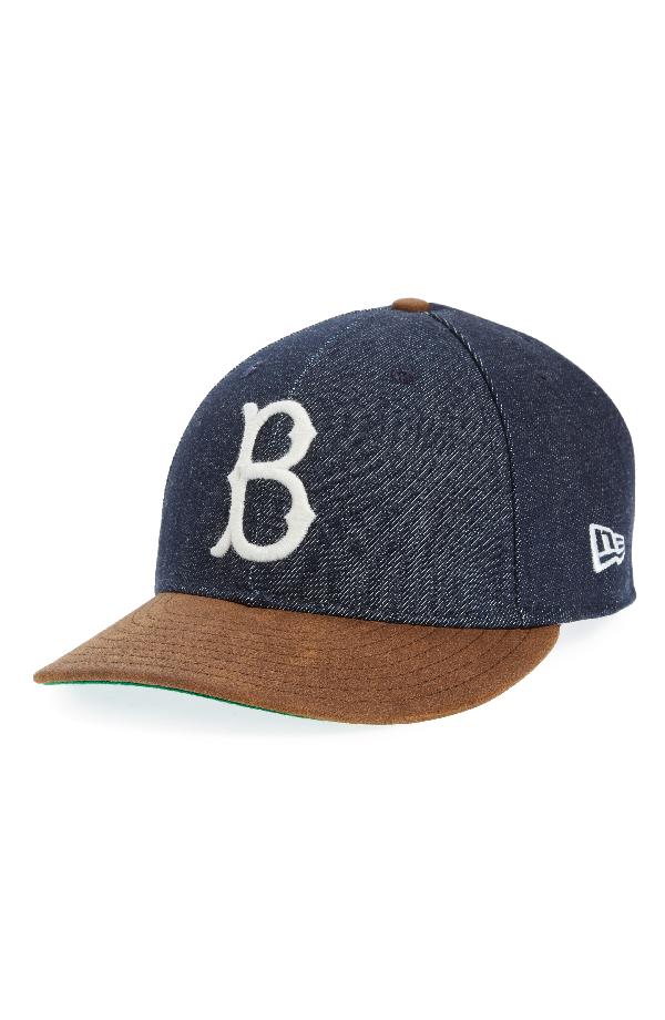 New Era X Levi's Mlb Logo Ball Cap - Black In Brooklyn Dodgers