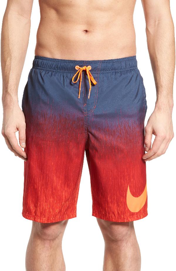 Nike Breaker Swim Trunks In University Red