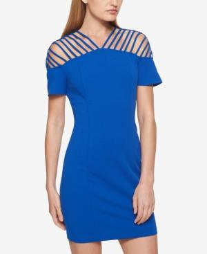 73490bfbe78 Guess Strappy Scuba Crepe Dress In Blue