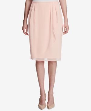 Calvin Klein Ruffled Wrap Skirt In Nectar