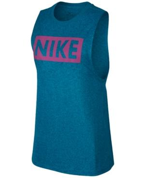Nike Dry Training Tank Top In Blue Force/Neo Turquoise