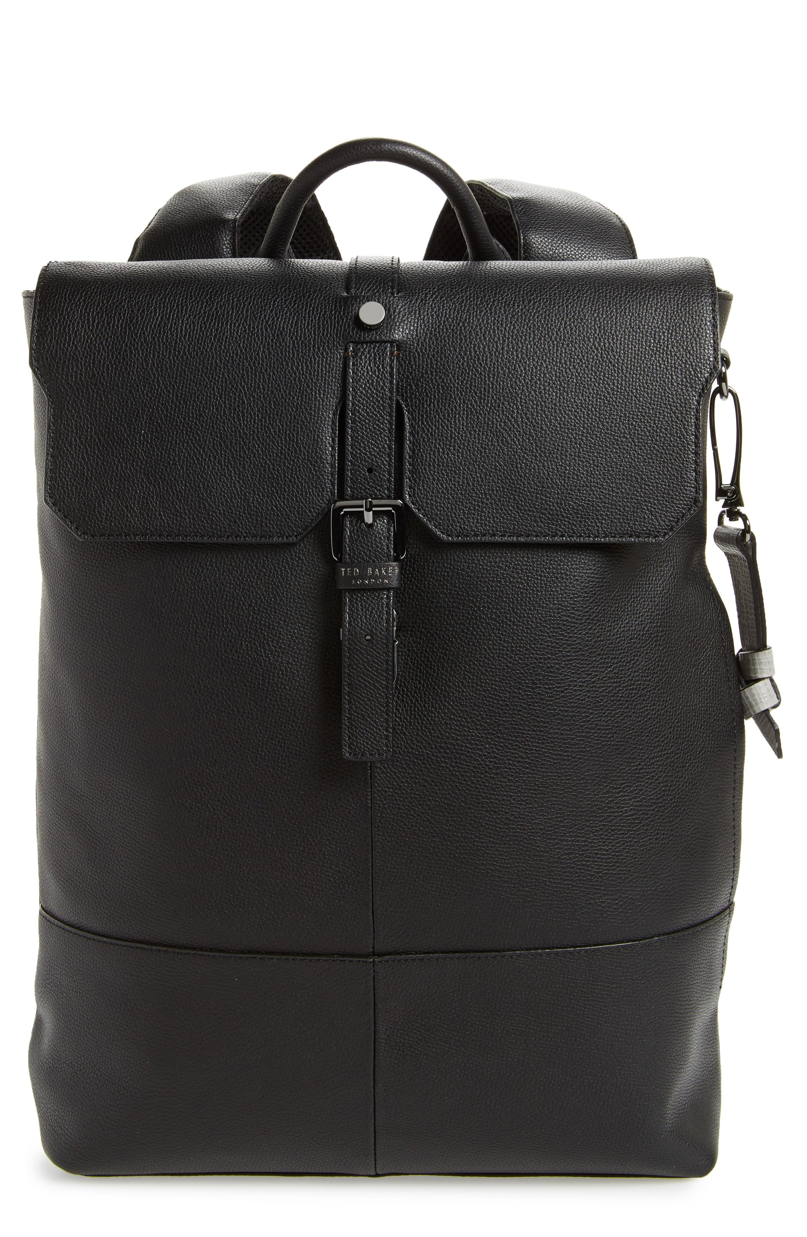 cf8b75e90 Ted Baker Beach Leather Backpack - Black | ModeSens