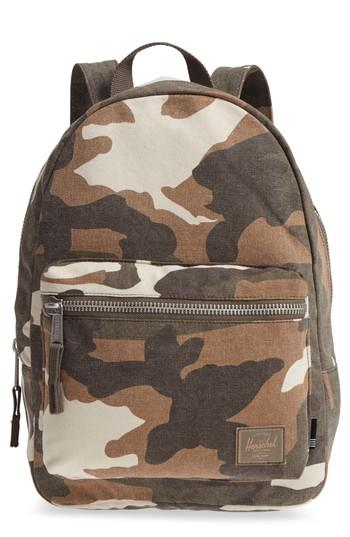 cd28c965d8f Herschel Supply Co. X-Small Grove Cotton Canvas Backpack - Green In Cub Camo
