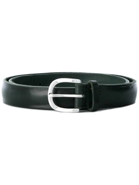 Orciani Narrow Leather Belt In Green