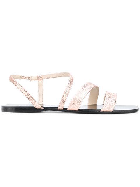 Anna Baiguera Ave Sandals In Metallic