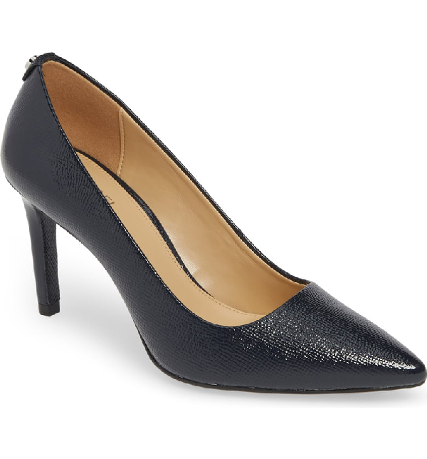 ff3bc5cb1860 Michael Michael Kors Dorothy Flex Suede Pointed Toe High-Heel Pumps In  Admiral Patent Leather