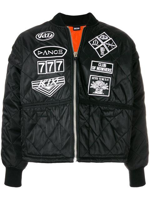 Ktz Bomberjacke Mit Patches - Schwarz In Black