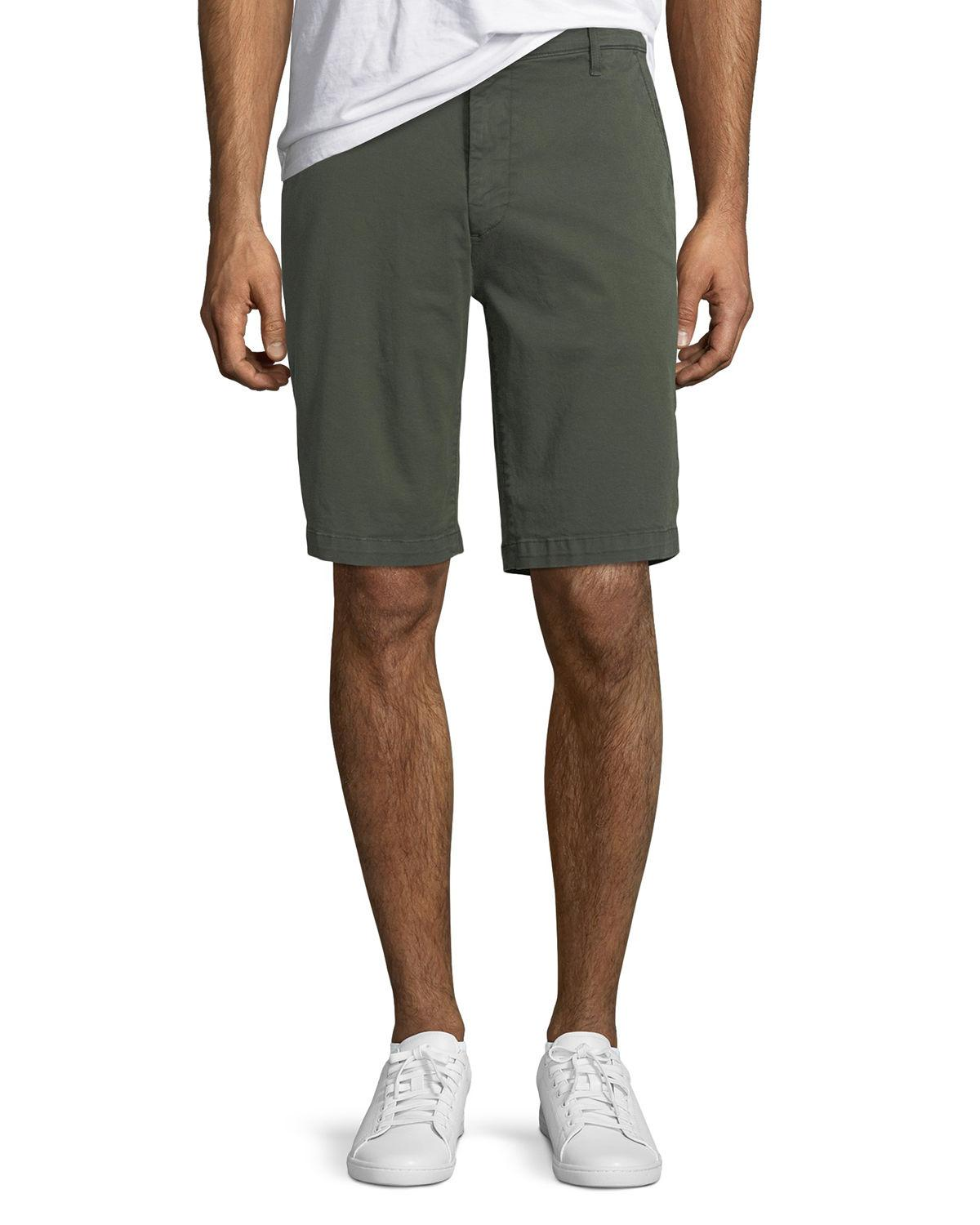 7 For All Mankind Men's Stretch Chino Shorts In Olive