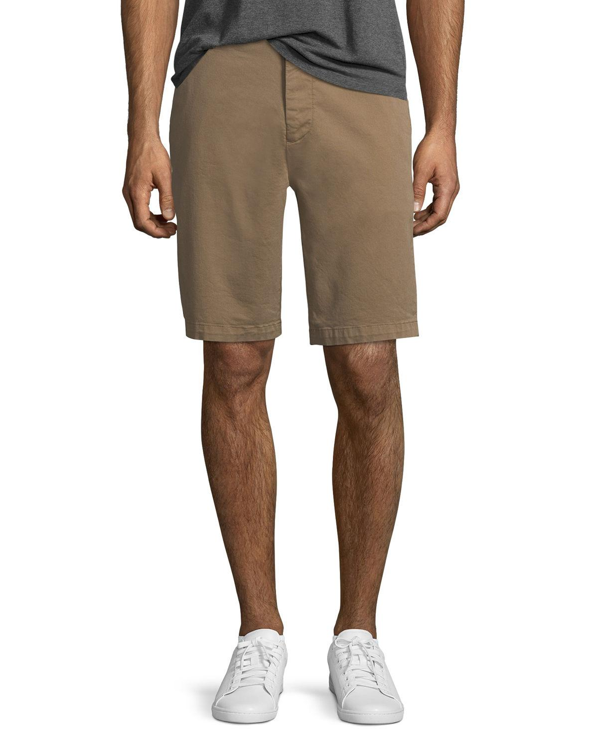 7 For All Mankind Men's Stretch Chino Shorts In Rich Khaki