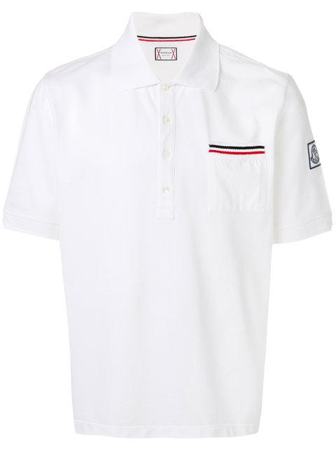 pretty nice 35c44 b4907 Moncler Poloshirt Mit Gestreifter Tasche - Weiß in White