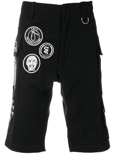 Ktz Scout Patches Military Shorts - Black