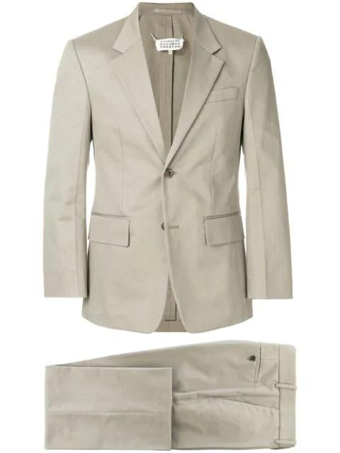 Maison Margiela Vintage-style Suit In 740 Khaki