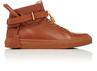 e637b68d5 Buscemi 100Mm Box Leather Sneakers In Whiskey | ModeSens