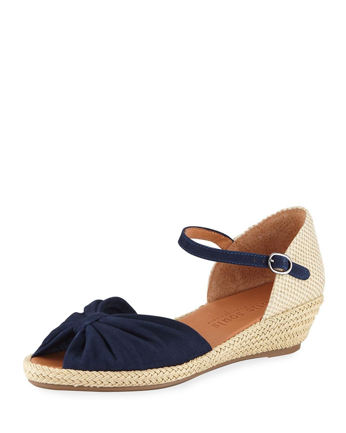7ea4a0be878 By Kenneth Cole Lucille Espadrille Wedge Sandal in Navy Suede