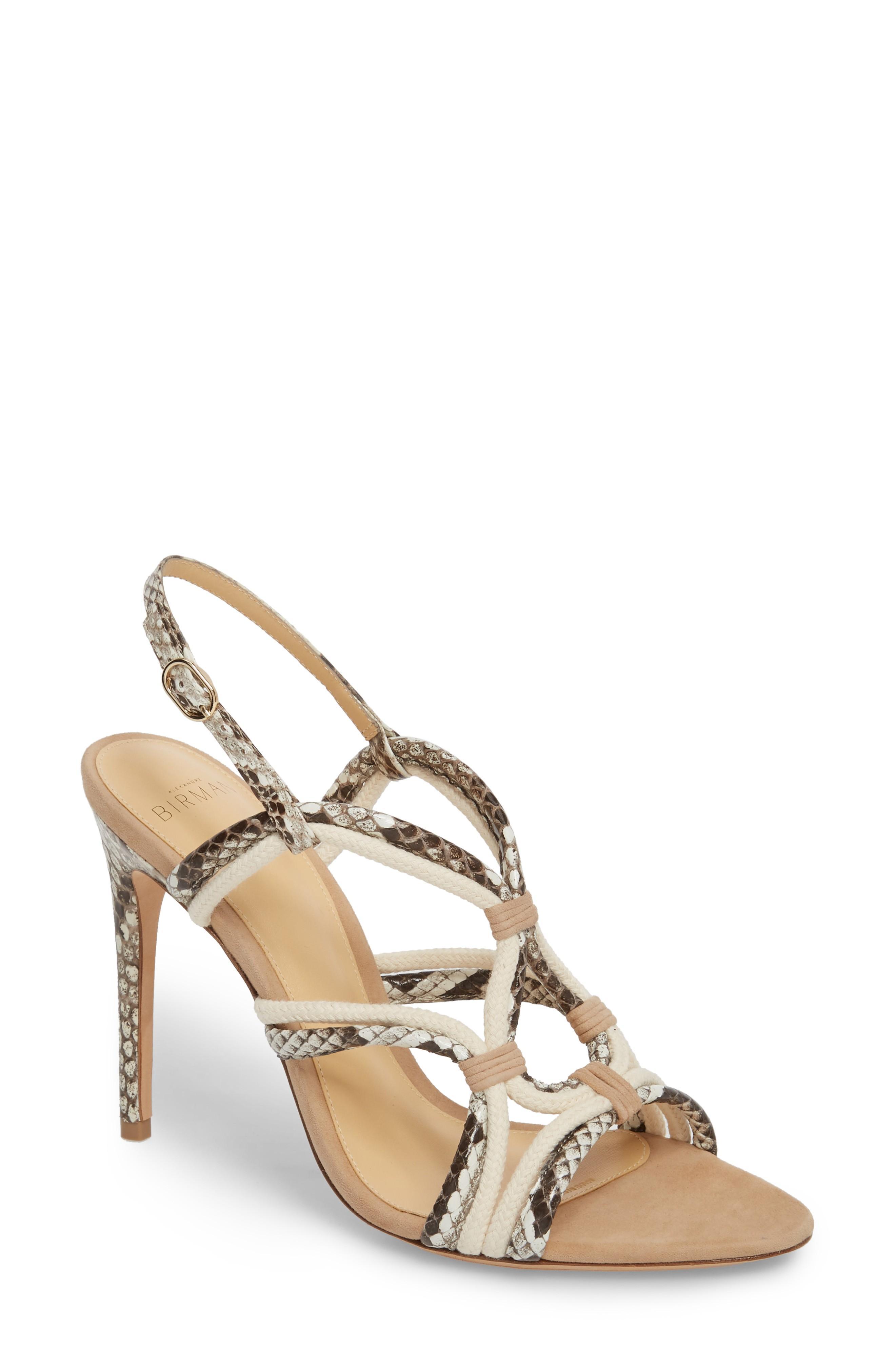 2df8609cf Alexandre Birman Giovanna Genuine Python Sandal In Natural