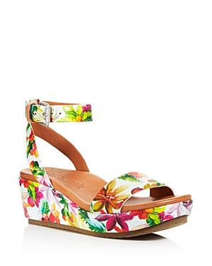 33aa05922ae6 A wrapped platform wedge plays up the contemporary-chic style of a sleek  two-strap sandal. The supersoft leather lining provides a supple feel