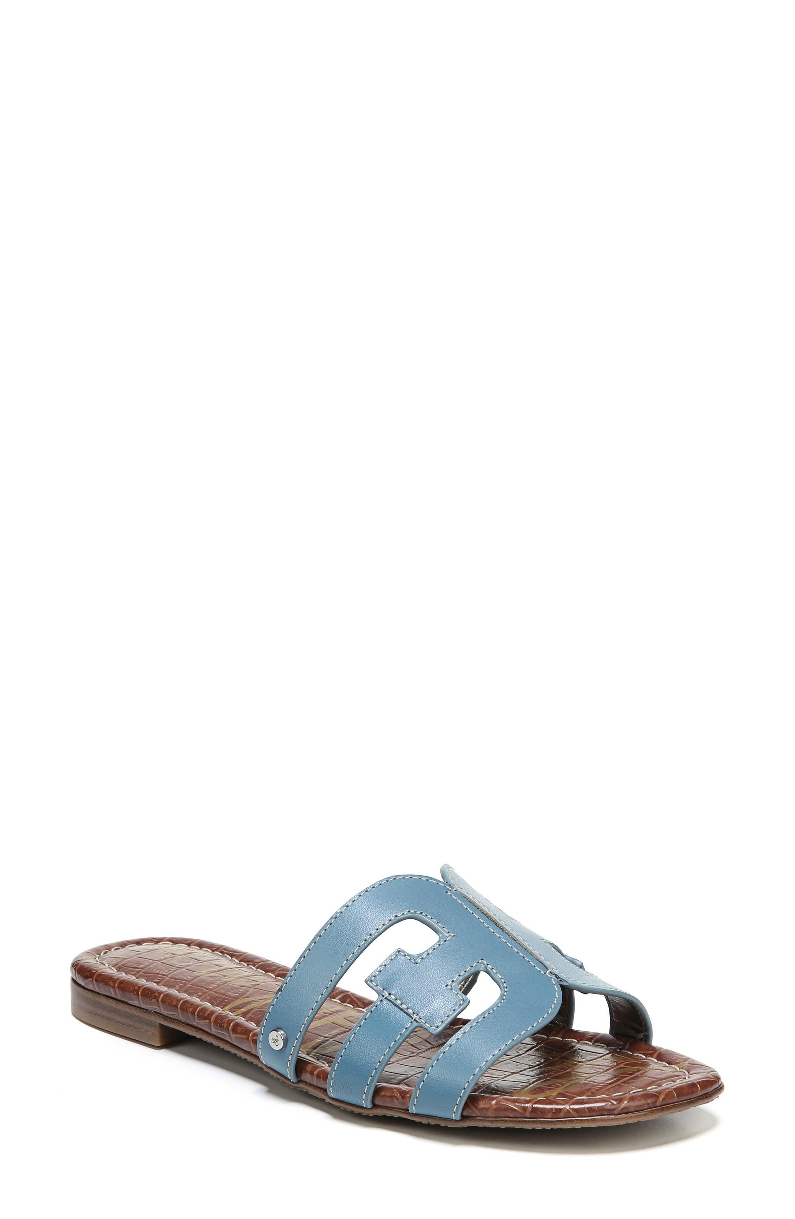 02a82269a02a Sam Edelman Bay Cutout Slide Sandal In Denim Blue