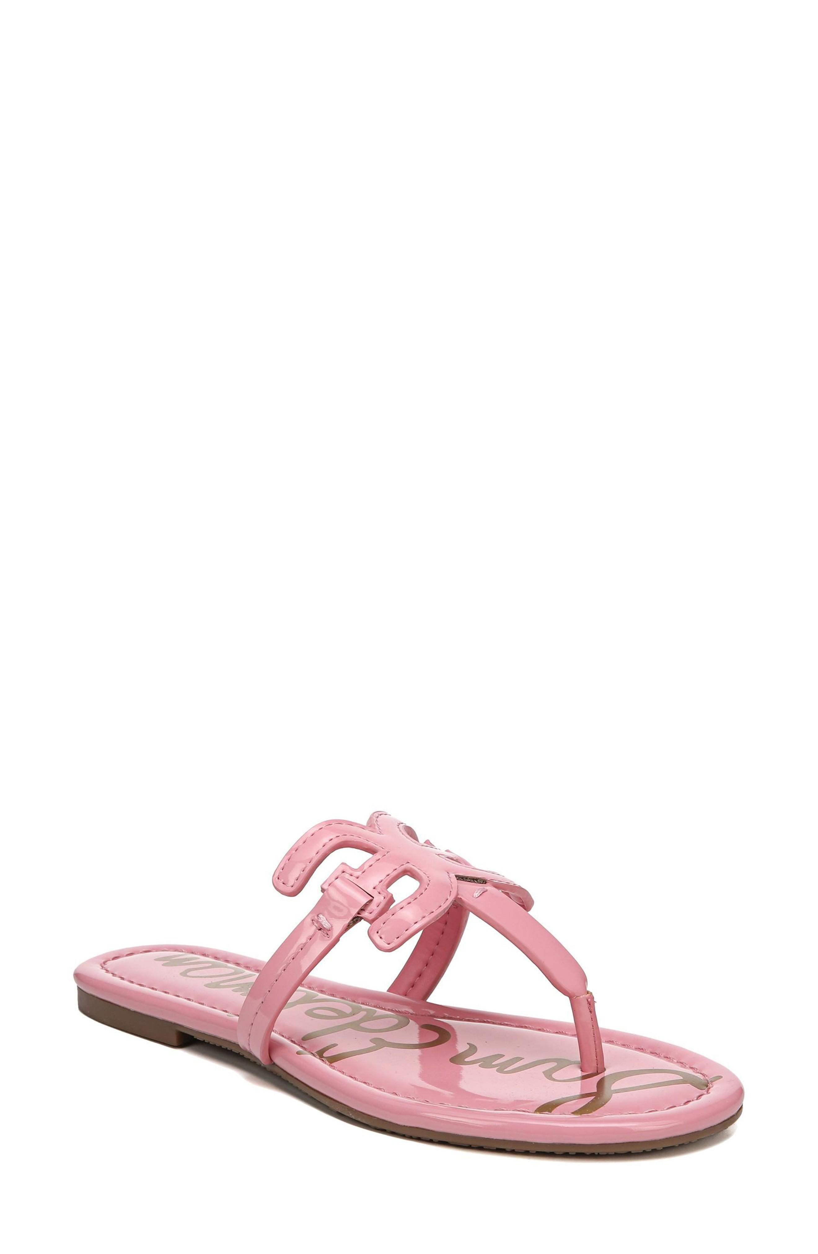 a5612f0a3d8 Sam Edelman Carter Thong In Pink Lemonade Patent Leather