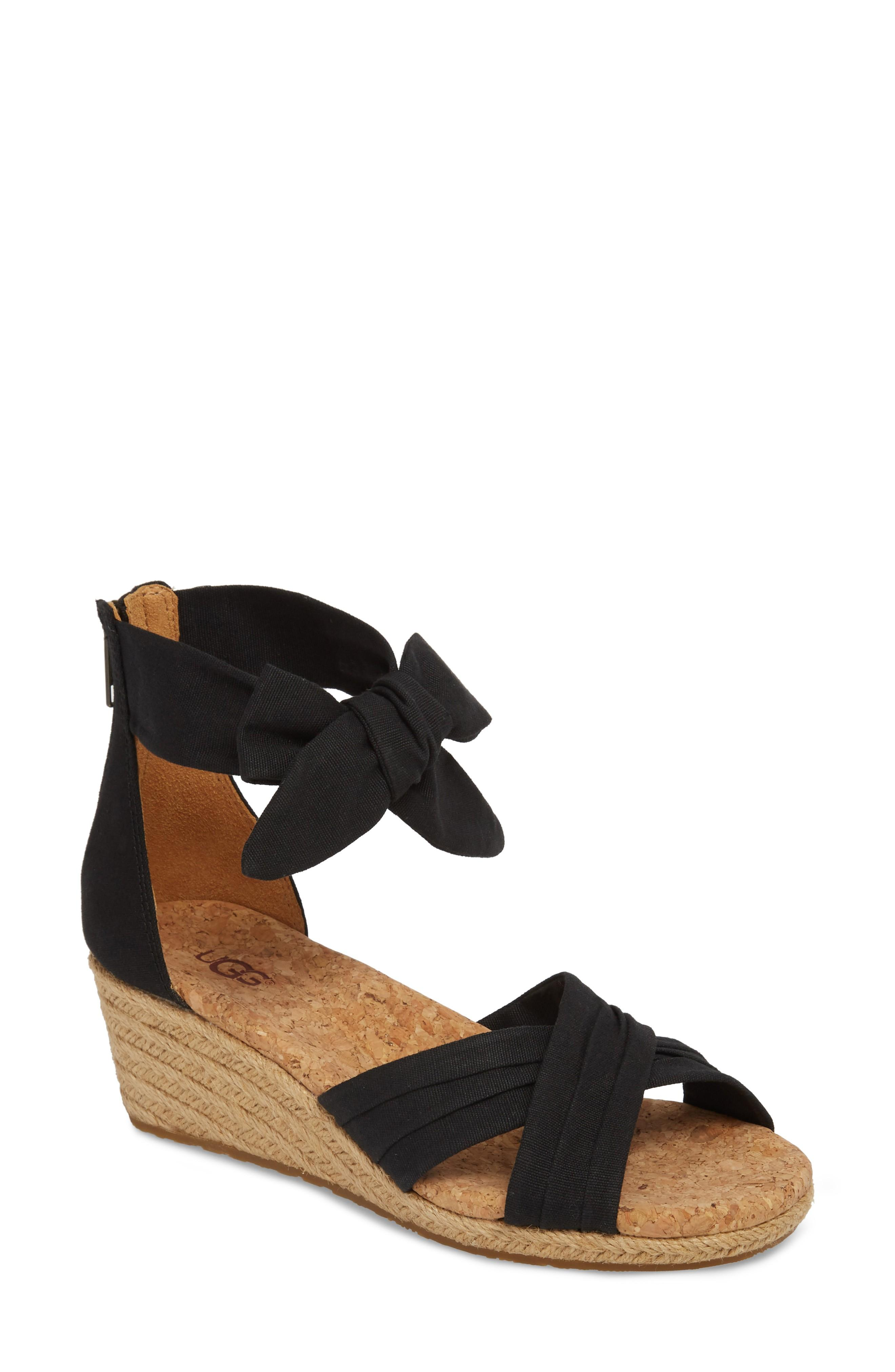 faec40daa9a Canvas straps and a jute-wrapped wedge make this sandal an earthy yet  sophisticated must-have. Style Name  Ugg Traci Espadrille Wedge Sandal  (Women).