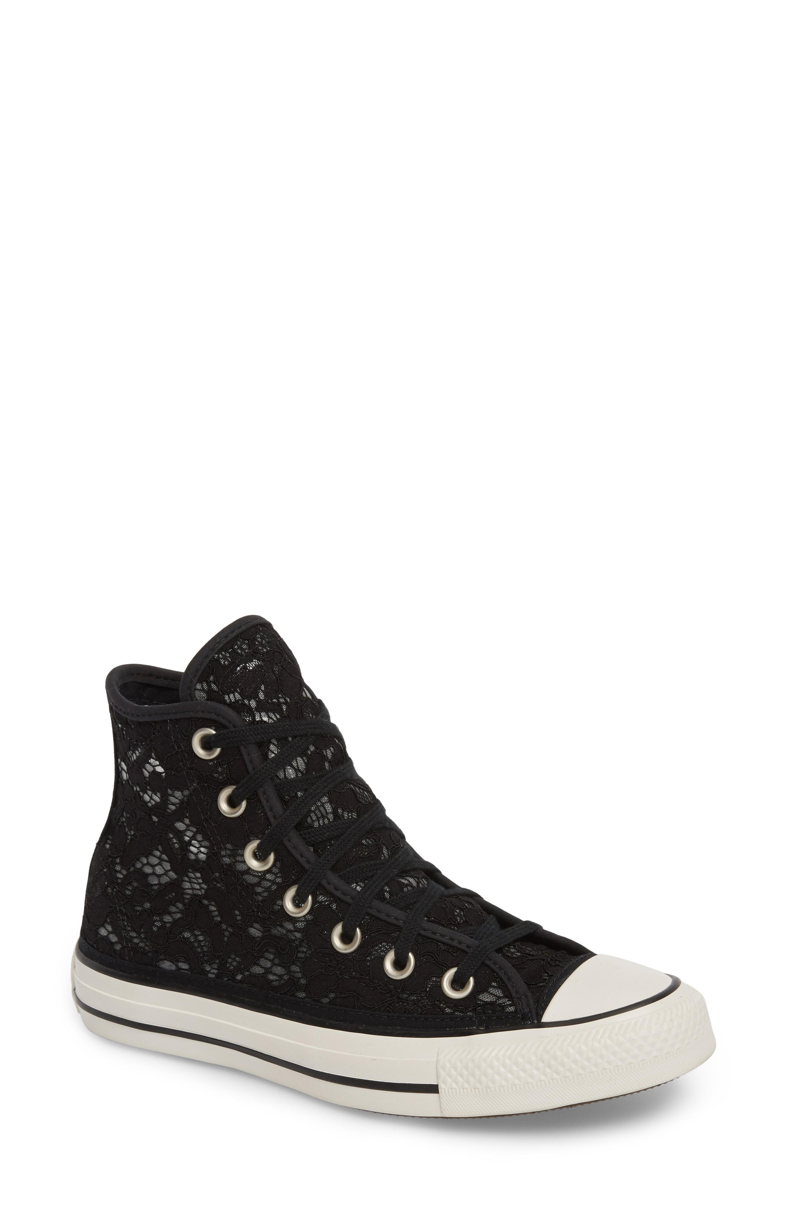 deee7ec47c3eab Converse Chuck Taylor All Star Lace High-Top Sneaker In Black  White ...