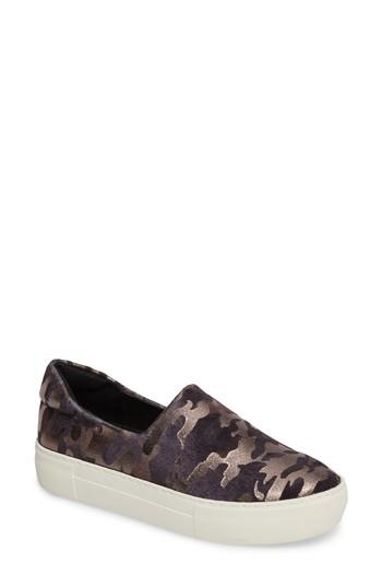 eed03bbbb93fa Jslides 'Ariana' Platform Sneaker In Black Camo Fabric | ModeSens