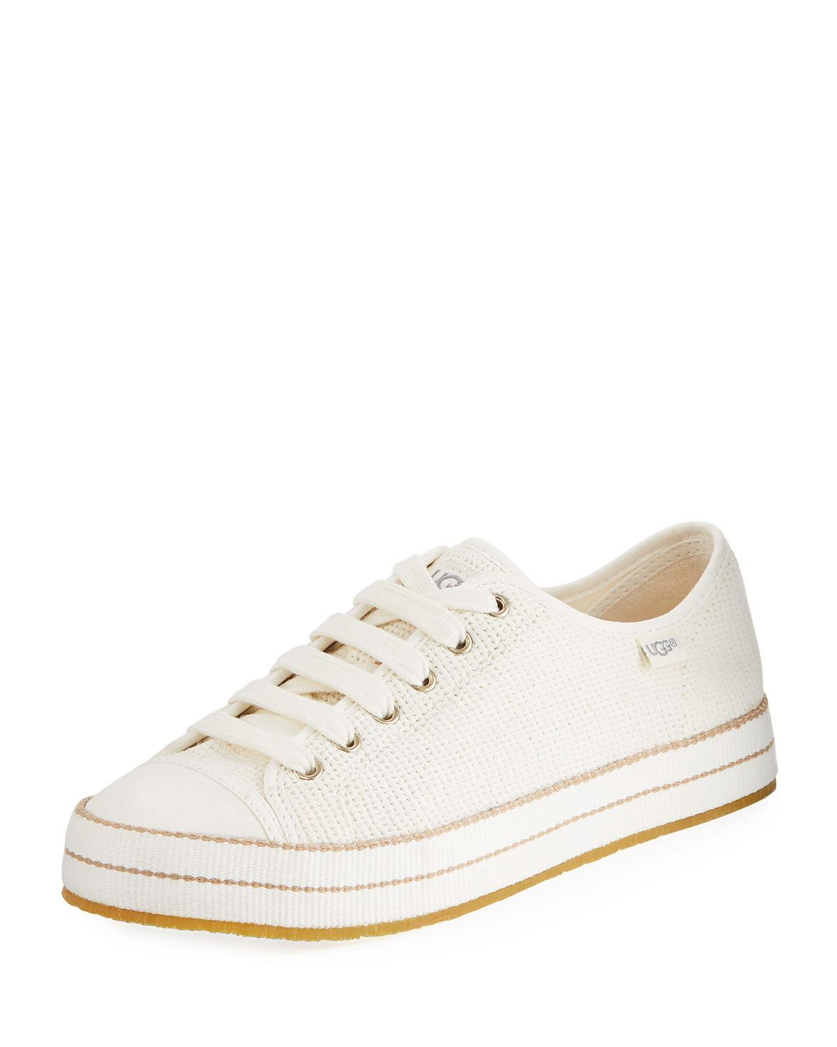 887a2c288bd Claudi Knit Lace-Up Sneakers in Natural