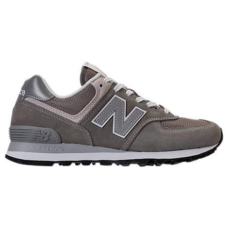 New Balance Women's Classic 574 Suede Lace Up Sneakers In Grey