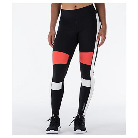 Reebok Women's Speedwick Colorblock Training Leggings, Black
