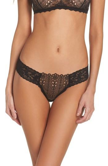 9ac22464d72 Hanky Panky Eyelet   Lace Thong In Black