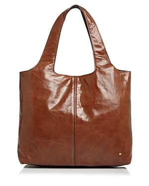 Halston Heritage Tina Large Open Soft Leather Tote In Bourbon Brown Gold 88bed7a23c59c