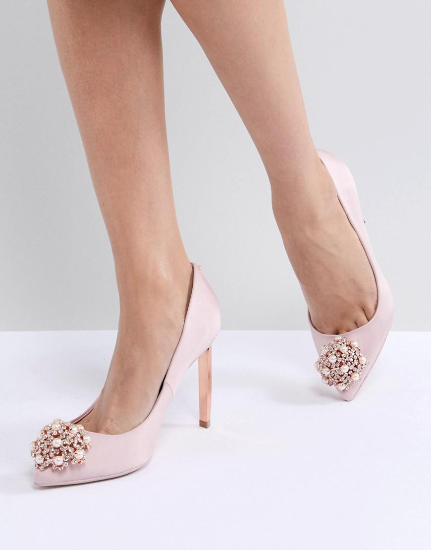1867ab7cd4 Ted Baker Peetch Light Pink Embellished Shoes - Pink | ModeSens