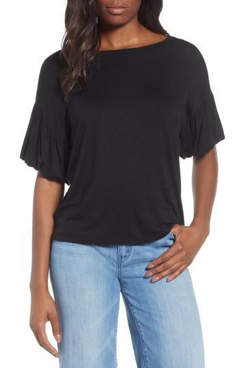 ec0dc3b282e Bobeau Knit Bubble Sleeve Tee In Black