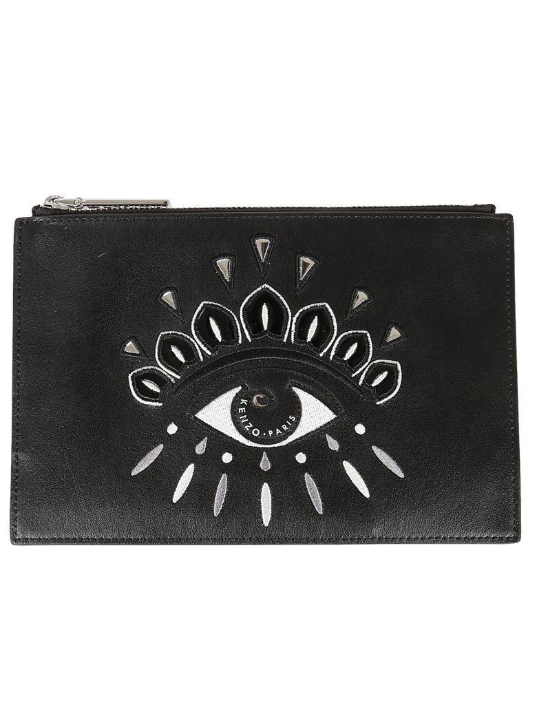 Kenzo Eye Clutch In Black
